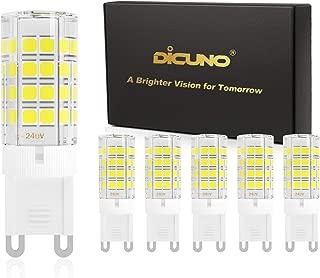 DiCUNO G9 LED Bulb 4W (40W Halogen Equivalent), 450LM Daylight White 6000K, 100-240V G9 Ceramic Base Non-dimmable Light Bulb for Ceiling Light, Under Cabinet (6-Pack)