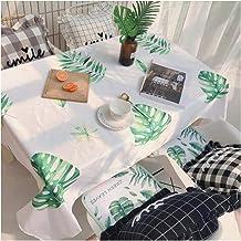 GUOCU Mantel de Ice Silk Fáciles de Limpiar Lavable Verano Refrescante Decoración del Hogar Mantel de Mesa para Cocina Comedor Fiesta Picnic Hoja 140 * 180