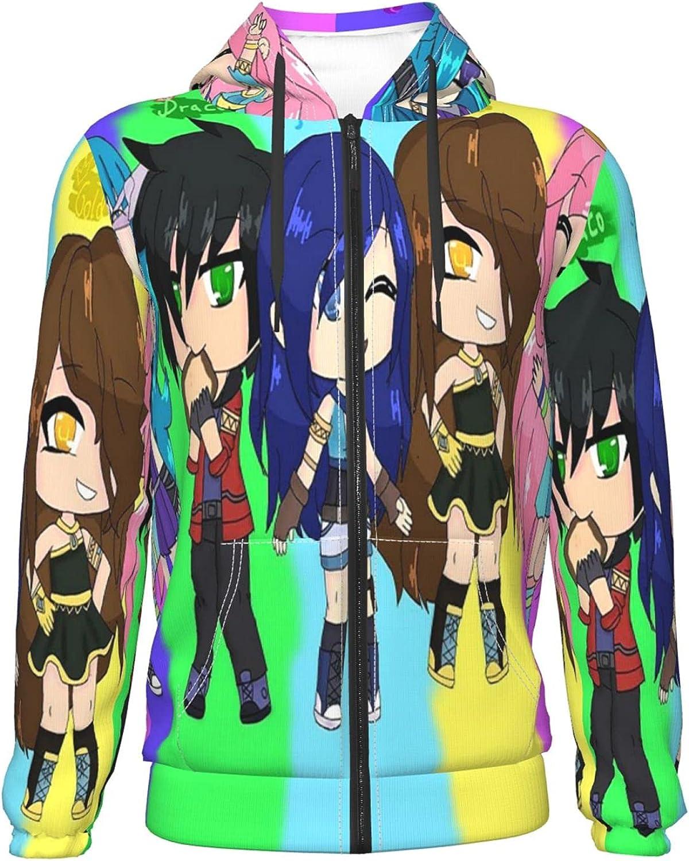 ItsFunneh Teenage Zipper Hoodie online shop Popular standard Sweater Pu Hooded Jackets Casual