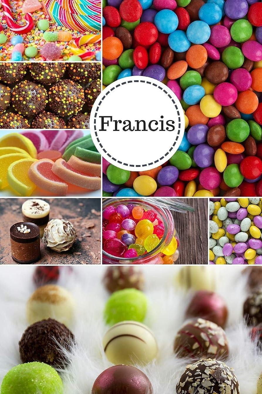 世界に死んだ共産主義移行するFrancis: Personalized Chocolates and Candies Journal  Notebook 6 x 9 with Personalized Name on Each Page