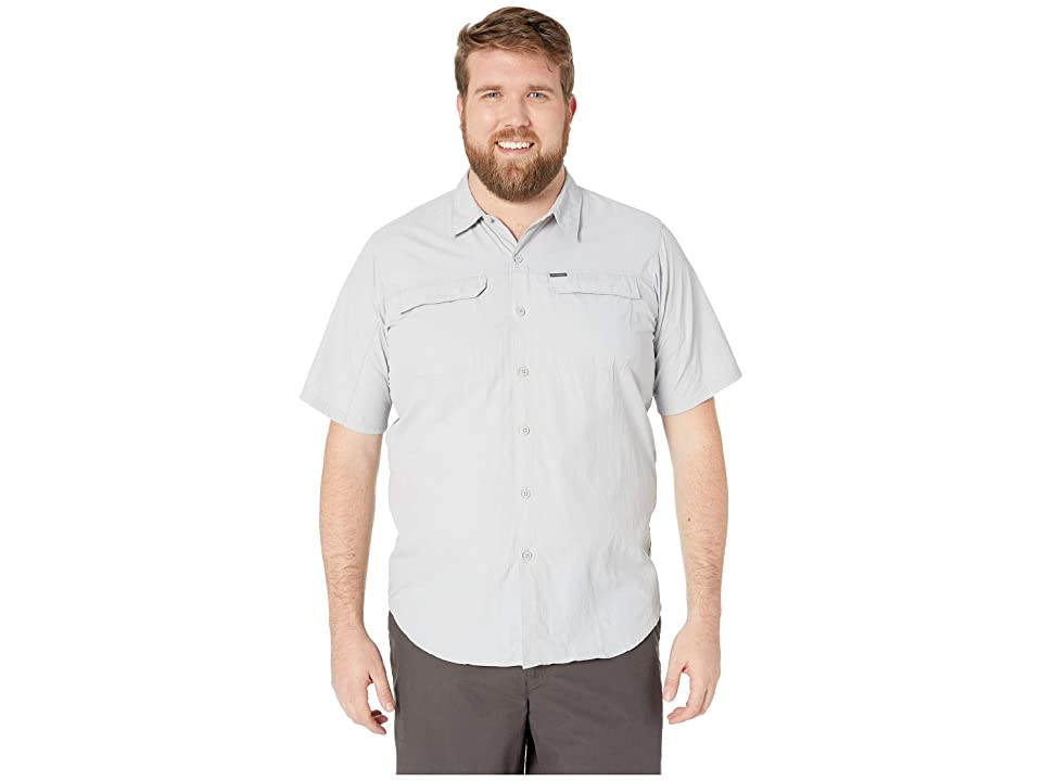 Image of Columbia Big and Tall Silver Ridge 2.0 Short Sleeve Shirt (Cool Grey) Men's Short Sleeve Button Up