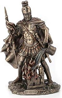 Veronese Design 9 Inch Saint Florian Patron Saint of Firefighters Antique Bronze Finish Christian Holy Roman Greek Statue