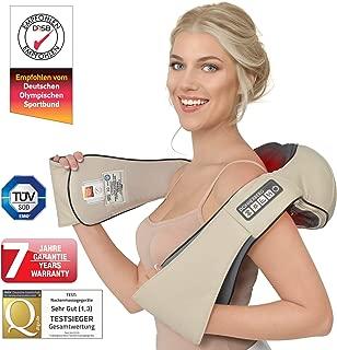 Appareil massage Donnerberg avec fonction chauffante pour les douleurs cervicales- Relaxation complete Massage shiatsu Soulage les douleurs cervicales lombaires -Garantie ans