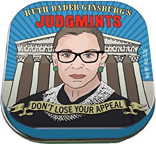 Ruth Bader Ginsburg's JudgMints Mints - 1 Small Tin 1.75 x 1.75