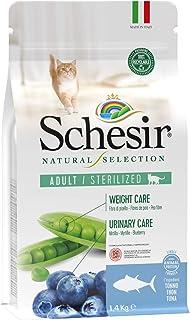 Schesir, Pienso Completo Y Equilibrado para Gatos Adultos Esterilizados, Línea Natural Selection con Alto Contenido En Atú...