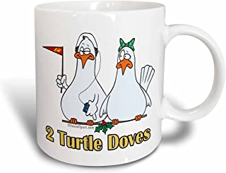 3dRose mug_104439_1 Two Turtle Doves Ceramic Mug, 11-Ounce