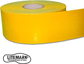 Easy Clean - Yellow Heavy Duty Floor Marking Tape - Warehouse Concrete Asphalt | 4 Inch x 108 Foot Roll