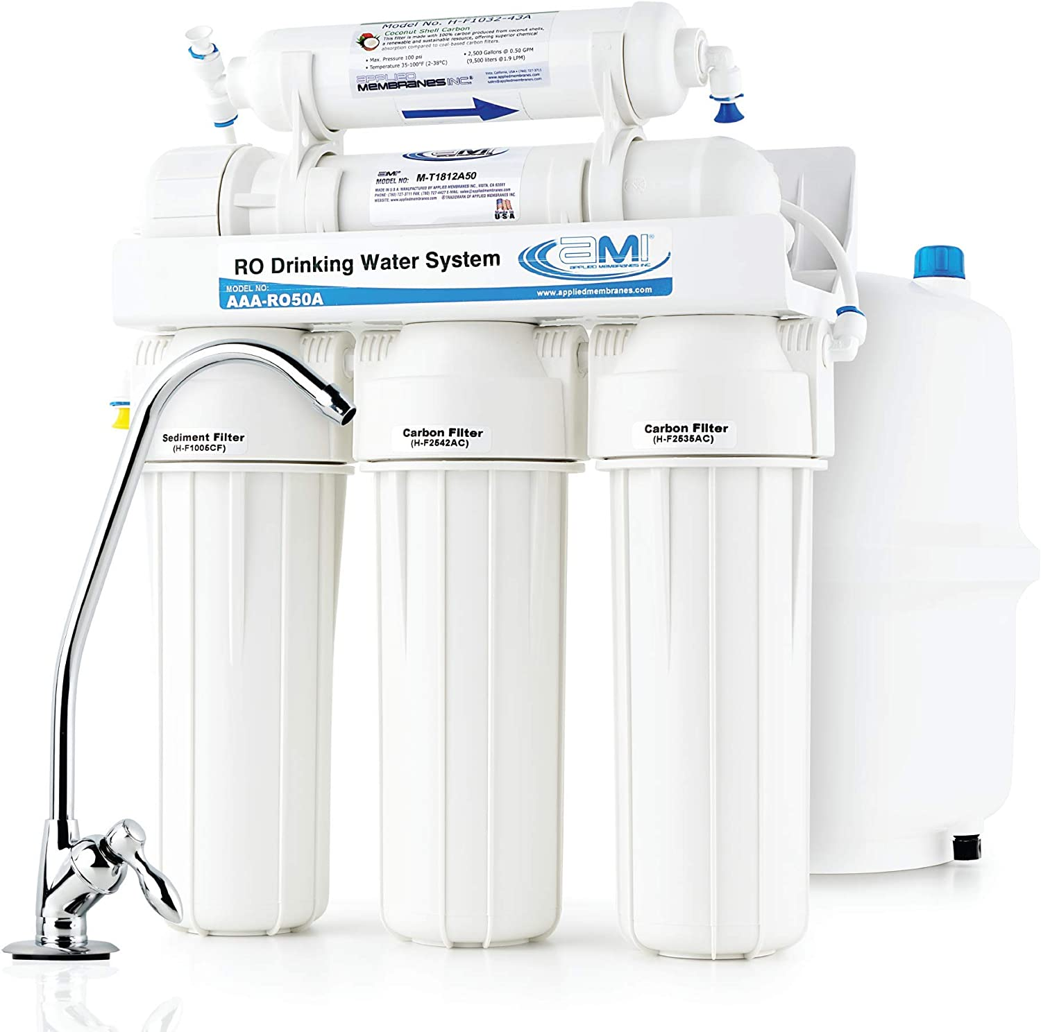 APPLIED MEMBRANES Reverse Osmosis Fresno Mall Filtration System High material Under Water