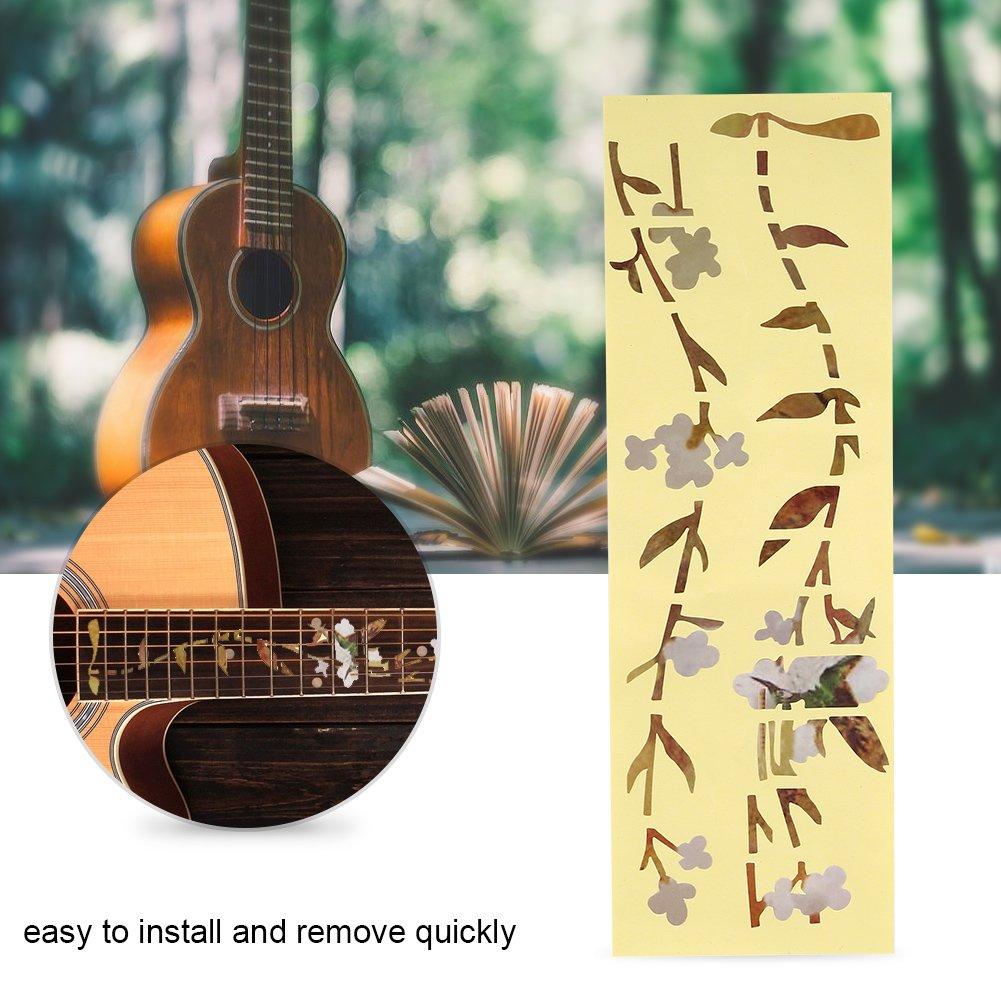 Inlay Stickers Markers, Bud y Bird Patrón Adhesivos de Guitarra ...