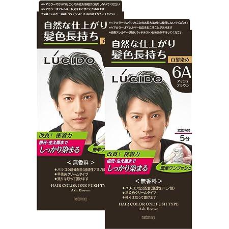 LUCIDO(ルシード) 【まとめ買い】ワンプッシュケアカラー(医薬部外品) メンズ用 ショートヘア約4回分 白髪染め 無香料 アッシュブラウン セット 2個