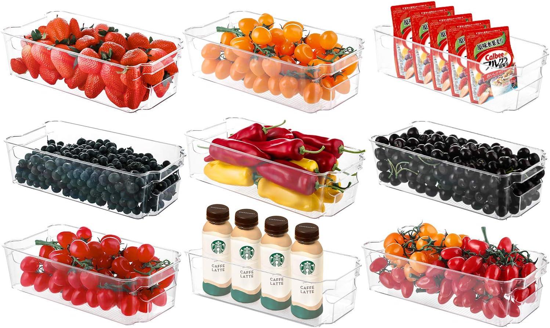 Refrigerator Organizer Bins HERKKA Al sold out. 9 Clear Pack Fashion Plastic Food St
