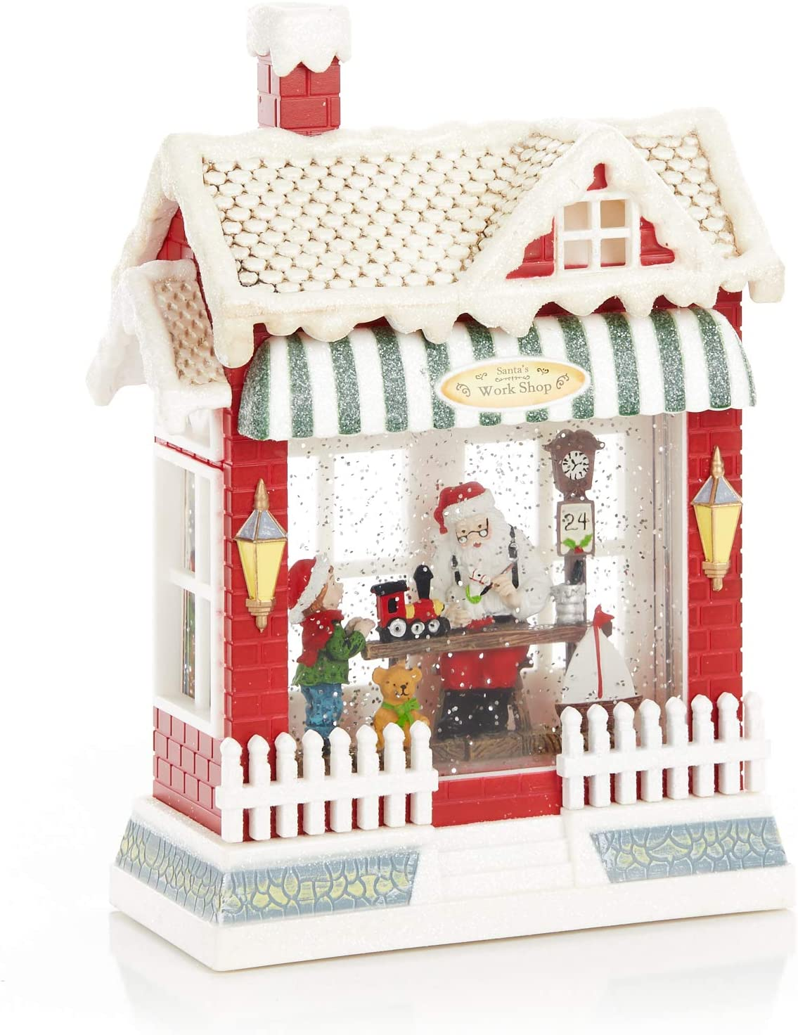 ReLIVE Christmas Light-Up Nippon regular agency Snow Globe Santa's - Indianapolis Mall Workshop