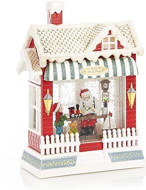 ReLIVE Christmas Light-Up Snow Globe - Santa's Workshop