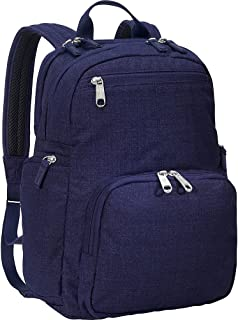 eBags Kalya Day Tour 2.0 Small Carry-On Backpack w/RFID Anti-Theft Security for Travel - Fits 14 Inch Inch Laptop - (Brushed Indigo)