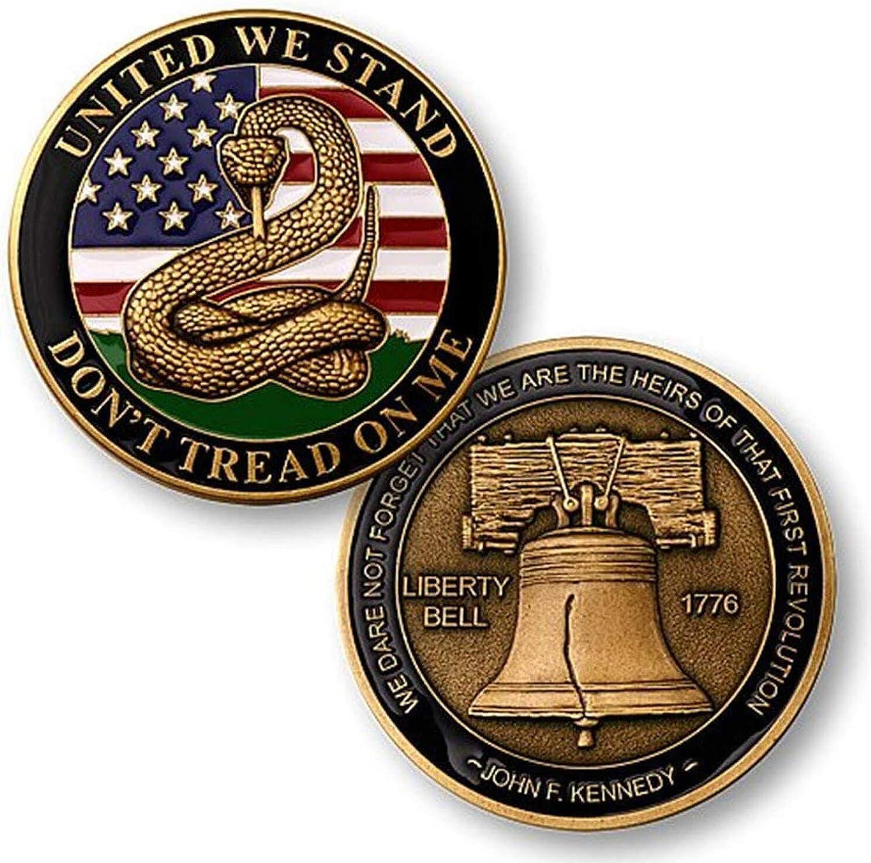 promociones Don't Tread on Me - Liberty Liberty Liberty Bell Challenge Coin  edición limitada en caliente