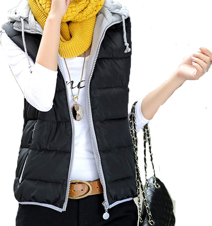 Cheryl Bull Trendy Women Jacket Solid Short Sleeveless TurnDown Collar Hooded Cotton Female Warm Waistcoat