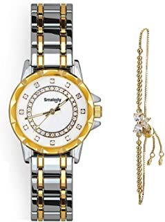 Smalody Round Luxury Women Watch Crystal Rhinestone Diamond Watches Stainless Steel Wristwatch Iced Out Watch with Japan Q...
