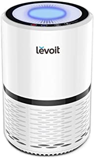 LEVOIT LV-H132 Purifier with True HEPA Filter, Odor Allergies Eliminator for Smokers, Smoke, Dust, Mold, Home and Pets, Air Cleaner with Optional Night Light, US-120V, 2-Year Warranty, 1Pack, White