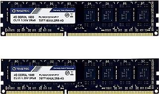 Timetec Timetec Hynix IC 8GB Kit (2x4GB) DDR3L 1600MHz PC3L-12800 Non ECC Unbuffered 1.35V/1.5V CL11 2Rx8 Dual Rank 240 Pi...