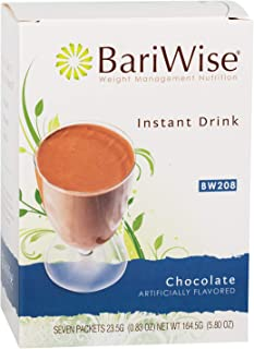 BariWise High Protein Drink Mix/Instant Low-Carb Hot Drink - Chocolate (7 Servings/Box) - Low Calorie, Low Carb, Gluten Free, Low Fat