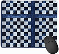 Blue Checker Chess Board_41411 Mouse Pad Custom Gaming Mousepad Nonslip Rubber Backing 9.8