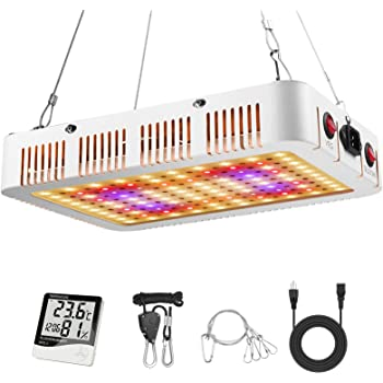 Ismile 1000W LED Grow Light Full Spectrum Veg and Flower Indoor Plants Growing Lamp with Daisy Chain Rope Thermometer for Greenhouse Hydroponic (Actual Power 105 Watt)