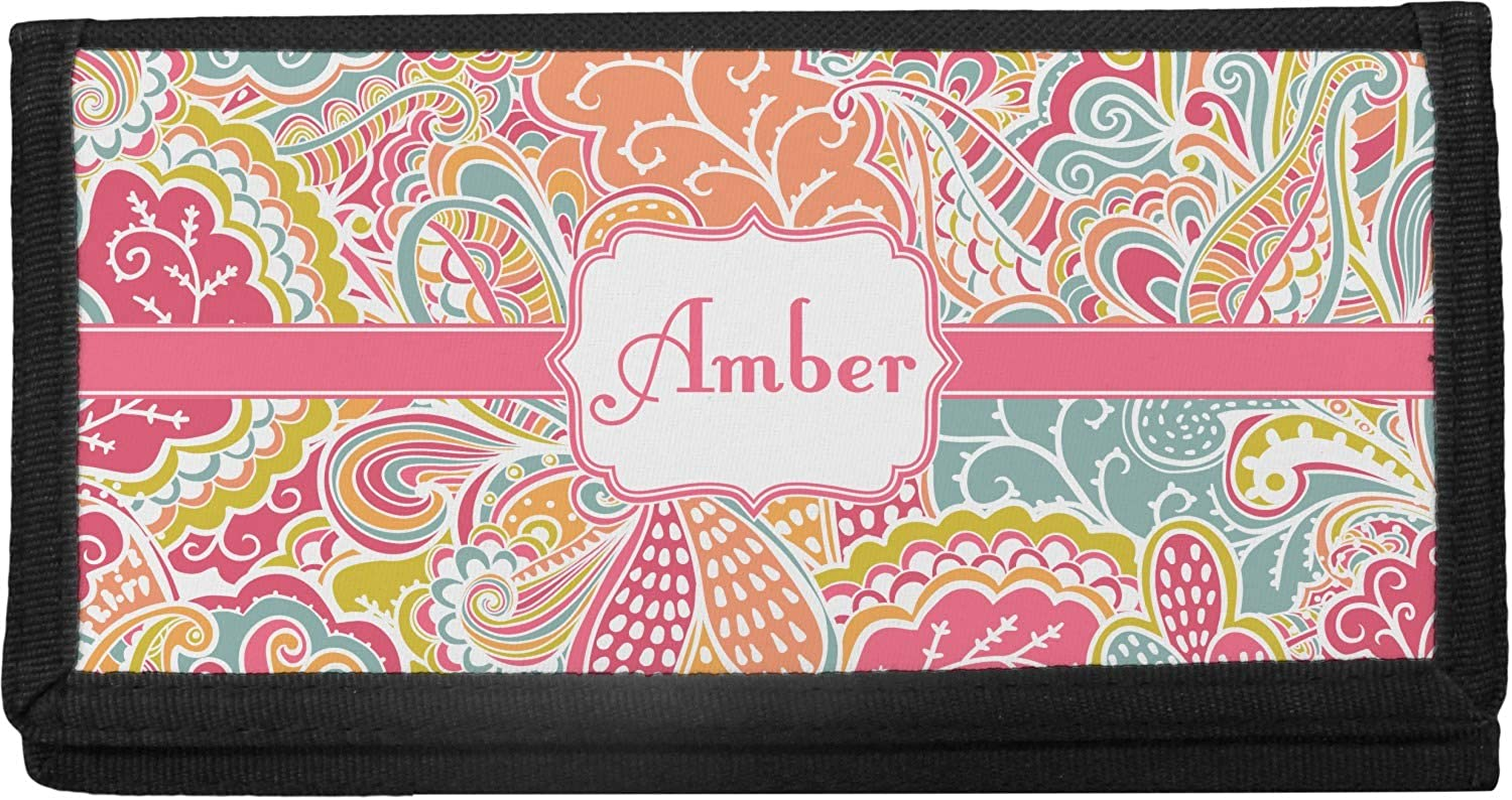 Abstract Foliage OFFicial mail order Canvas Checkbook Personalized Cover High quality