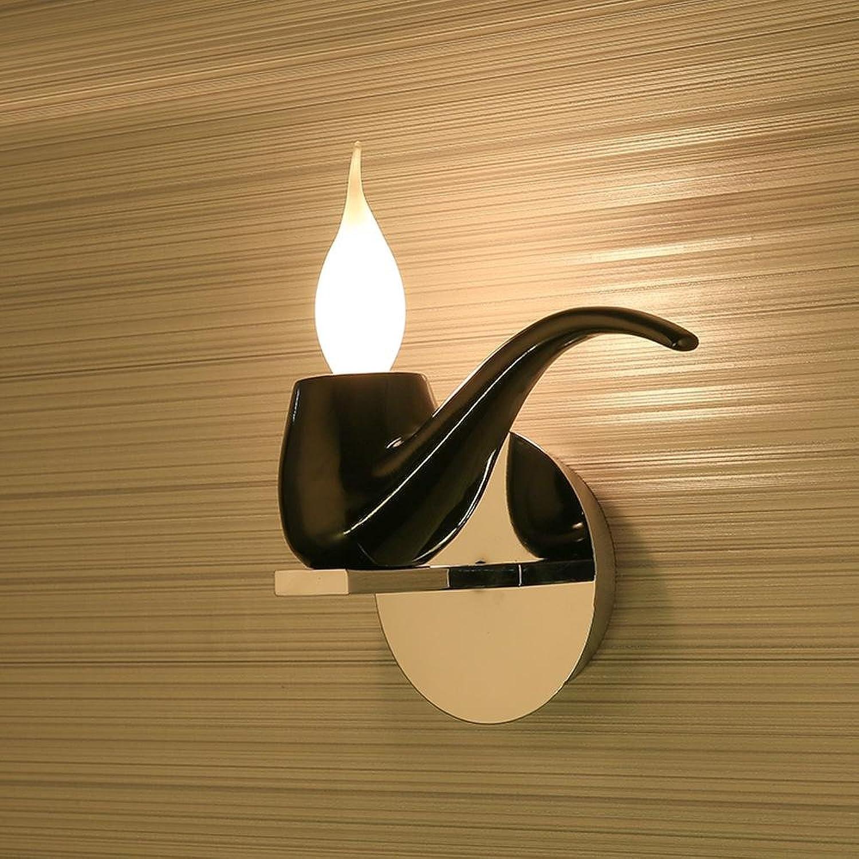 Modern Klassisch Creative Karikatur Design Deluxe LED Pipe Form Wandleuchte Wandlampe Innen minimalistische Metall Kerze Wandbeleuchtung Edison 1E14 max. 40 Watt , Schwarz