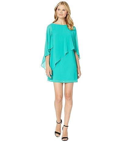 Vince Camuto Asymmetrical Cape Dress (Jade) Women