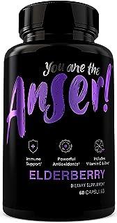 Anser Sambucus Elderberry Supplement by Tia Mowry - with Vitamin C & Zinc - Once Daily Women & Men's Vegan Herbal Capsules - Powerful Antioxidant Formula - 60 Count
