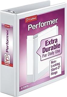 "Cardinal Performer 3-Ring Binder, 2"", Non-Locking Slant-D Rings, 540-Sheet Capacity, ClearVue Presentation Binder, Nonstic..."