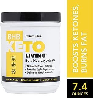 KetoLiving BHB Berry Lemonade Drink Mix - 7 oz Vegan Drink Powder - Boosts Ketones, Ignites Fat Burning - Promotes Appetite Control & Increased Energy - Gluten-Free, Vegetarian - 20 Servings