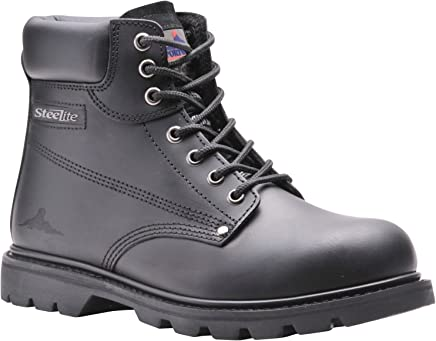 Portwest FW16BKR43 Steelite Welted Safety Boot, SBP HRO, Regular, Size: 43/1, Black