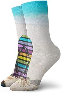 Zapatillas de playa y gafas de sol de verano Calcetines casuales transpirables Calcetines deportivos de viaje Yoga Caminar Ciclismo Correr Fútbol 30cm