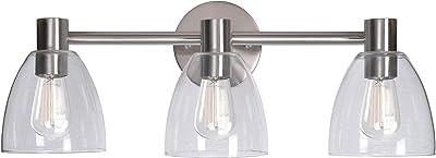Kenroy Home Edis 3 Light Vanity, Brushed Steel Finish