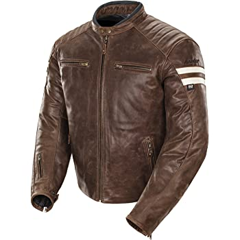 Joe Rocket - 1326-2303 Classic '92 Men's Leather Motorcycle Jacket (Brown/Cream, Medium)