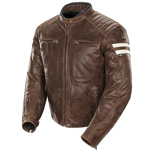 Joe Rocket 1326-2305 Classic  92 Men s Leather Motorcycle Jacket  (Brown Cream fc57d5967