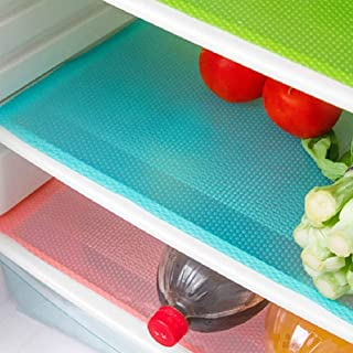 AKINLY 9 Pack Refrigerator Mats,Washable Fridge Mats Liners Waterproof Fridge Pads Mat..