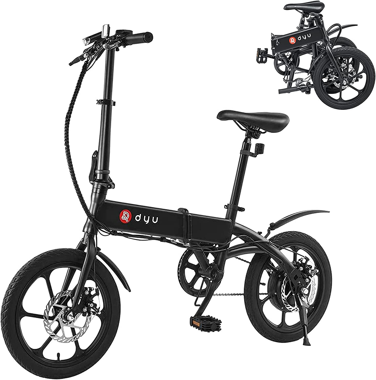 DYU Bicicleta Eléctrica Plegable,E-Bike con Pedales,Bici Electricas Adulto,Adultos Unisex,Unico
