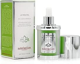 LaNouvel Cellular Nutri Serum Hyaluronic Acid Hydrating Serum with Collagen, Elastin, Resveratrol, Peptides, Dragon's Blood, Reishi, CoQ10 & Vitamin C, 1oz. Anti-Aging Booster For Stronger Plump Skin