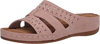 Easy Street womens Slide Sandal,Blush,8 M US