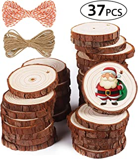 5ARTH Natural Wood Slices - 37 Pcs 2.0