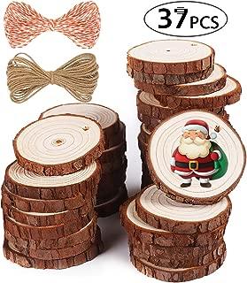 5ARTH Natural Wood Slices - 37 Pcs 2.0