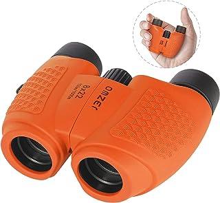 OMZER Binoculars for Kids - High Resolution 8x22 Compact High Powered Kids Binocular for Bird Watching Hiking Camping Learning Outdoor Games - Small Folding Telescope for Boys Girls, Orange
