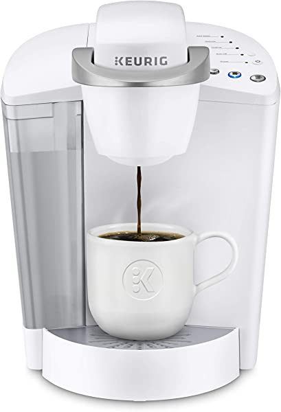 Keurig K Classic Coffee Maker Single Serve K Cup Pod Coffee Brewer 6 To 10 Oz Brew Sizes White