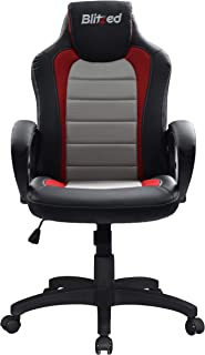 BLITZED Basic Sigma Racing Style Gaming Chair with Breathable Mesh (Grey)