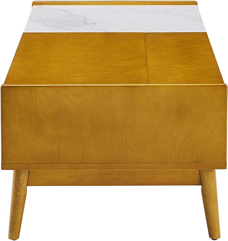 Crosley Furniture Landon Storage Coffee Table with Marble Leaf ...