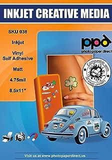 "$32 » PPD Inkjet Matt Creative Vinyl Stickers LTR 8.5x11"" 4.7mil x 50 Sheets (PPD038-50)"