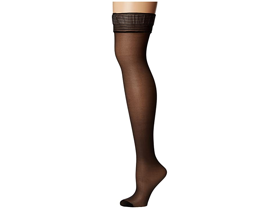 BLUEBELLA Hold Ups Plain Top (Black) Women