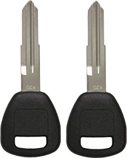Keyless2Go New Uncut Replacement Transponder Ignition ID 13 Chip Car Key HD106 (2 Pack)